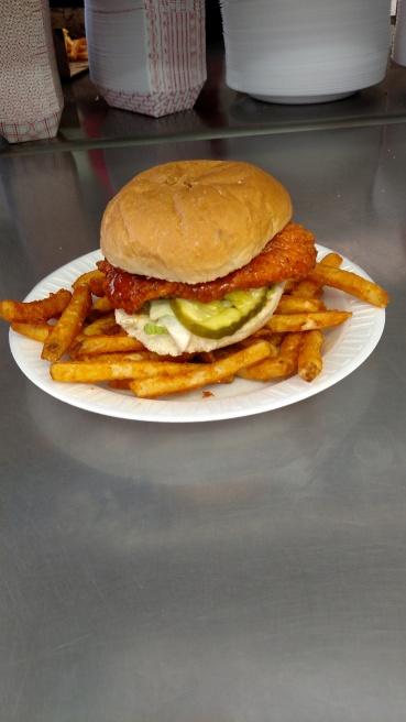 Chicken Sandwich & Spicy Fries